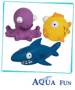 Floating Squirty Sea Squad Toy Set - 3 per pack