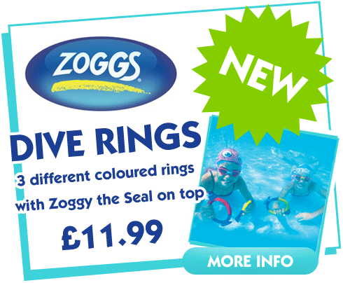 Zoggs Dive Rings, Pool Toys